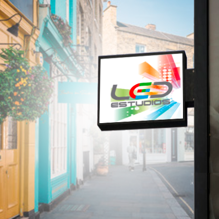 LED ESTUDIOS - Banderolas led doble cara exterior