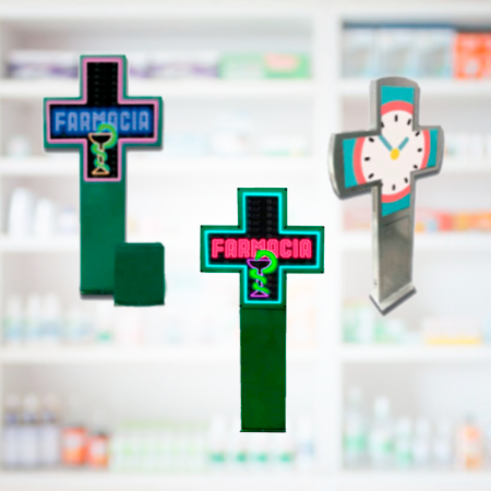 LED ESTUDIOS - Cruces led para farmacias